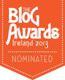 Blog Awards Ireland nomination